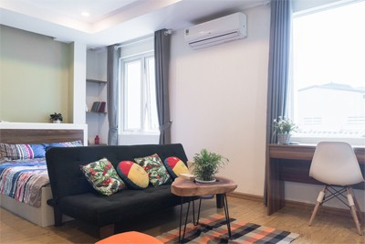 Charming Studio apartment for rent alley 545 Xuan Dinh street, Tay Ho district