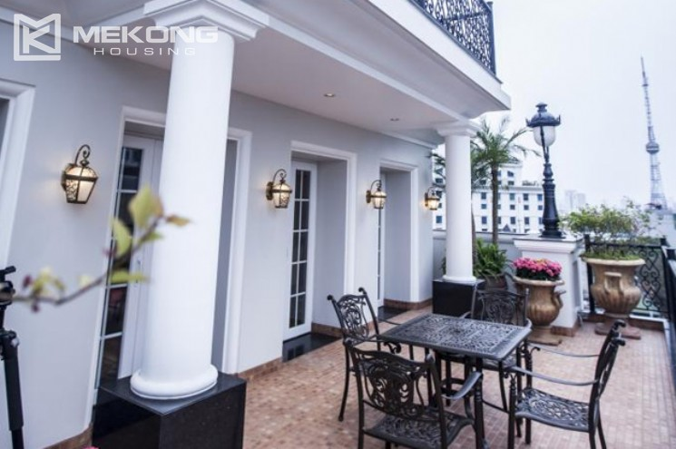 Penthouse apartment for rent in Thai Hoang Building 4