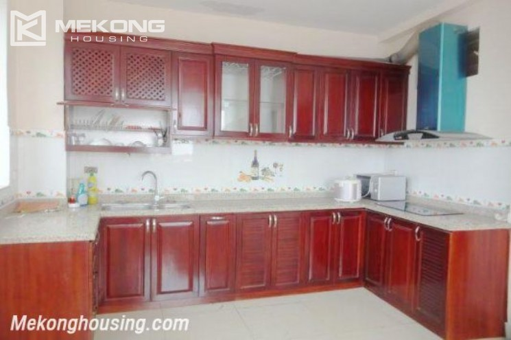 Two bedrooms serviced apartment for rent in Au Co street, Tay Ho district, Hanoi 1